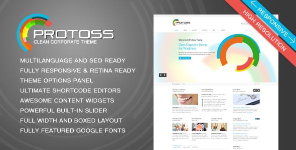 قالب Protoss - قالب سایت شرکتی برای وردپرس