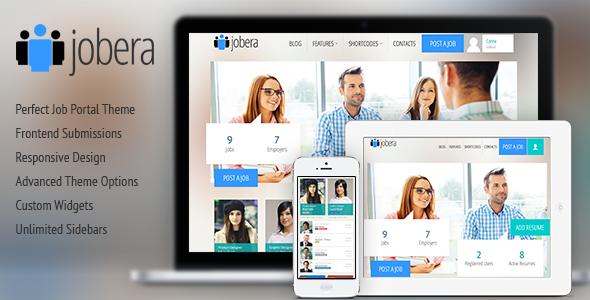 Jobera - قالب وردپرس پورتال کار