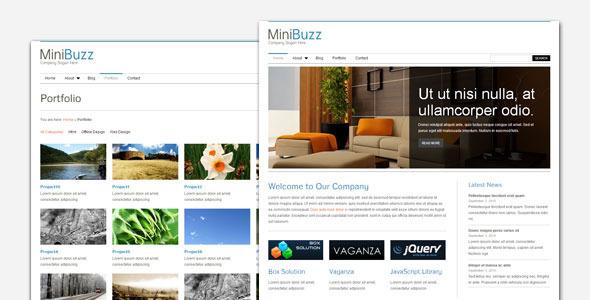 قالب MiniBuzz - قالب وردپرس کسب و کار