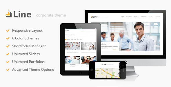 قالب Line - قالب وردپرس شرکتی