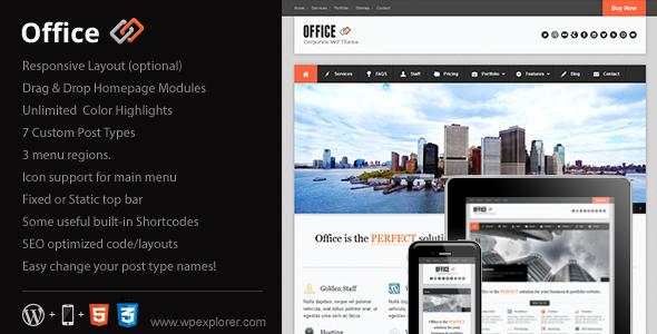 قالب Office - قالب وردپرس کسب و کار