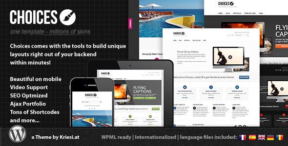 قالب Choices - قالب وردپرس سایت نمونه کار شرکتی