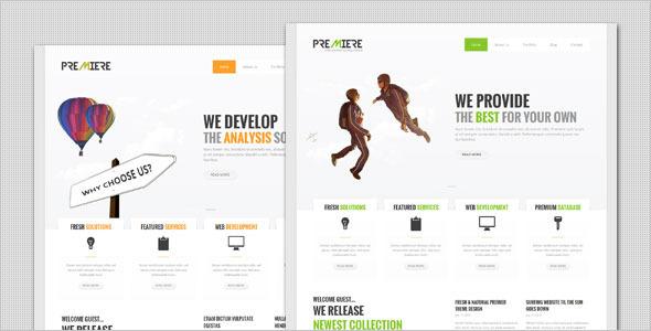 Premiere - قالب وردپرس کسب و کار شرکتی