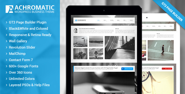 قالب Achromatic - قالب وردپرس کسب و کار