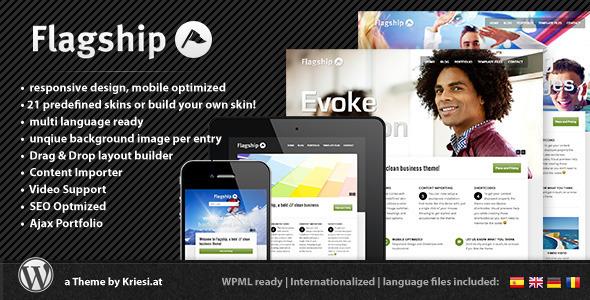 قالب Flagship - قالب وردپرس سایت نمونه کار شرکتی