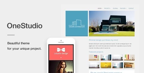 قالب OneStudio - یک قالب منحصر به فرد ریسپانسیو