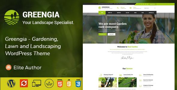 قالب Greengia - قالب وردپرس باغبانی و محوطه سازی