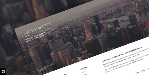 قالب The Contractor - قالب وردپرس شرکت ساختمانی