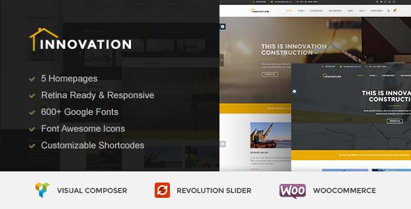 قالب INNOVATION - قالب وردپرس ساخت و ساز ساختمان
