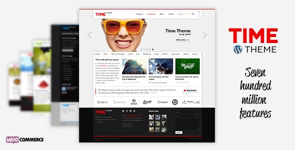 قالب زمان | Time - قالب وردپرس شرکتی و تجاری