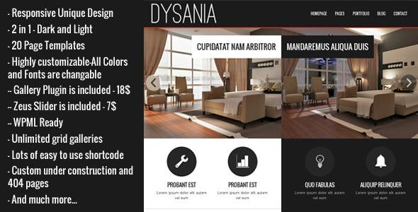 قالب Dysania - قالب وردپرس چند منظوره ریسپانسیو