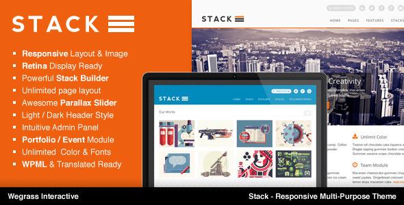 قالب Stack - قالب چند منظوره ریسپانسیو