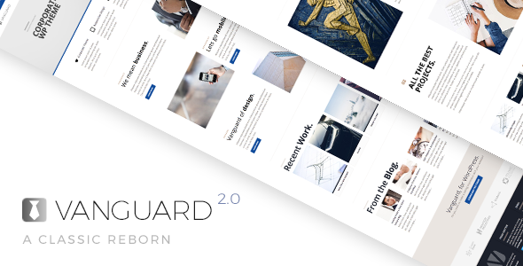 قالب Vanguard - قالب وردپرس کسب و کار و نمونه کار