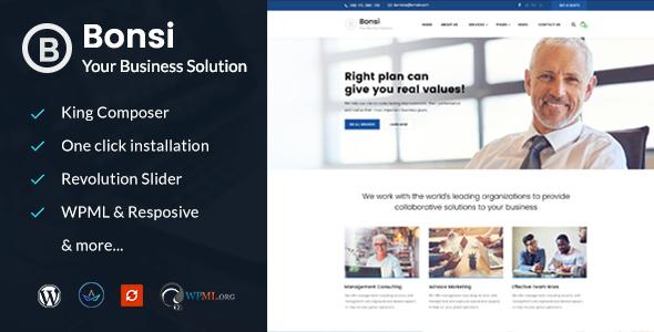 قالب Bonsi - قالب وردپرس مشاوره کسب و کار