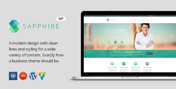 Sapphire - قالب وردپرس کسب و کار ریسپانسیو