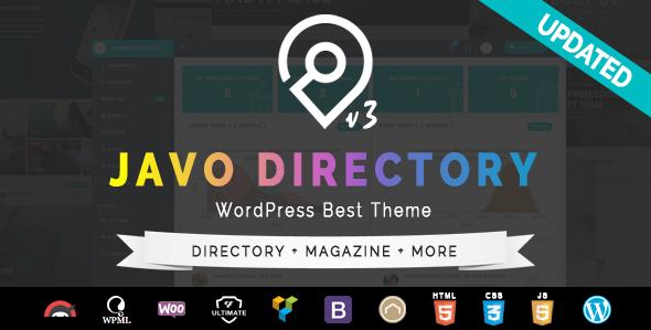 قالب Javo Directory - قالب وردپرس
