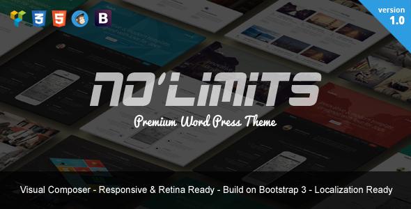قالب NoLimits - قالب تک صفحه ای بوت استرپ وردپرس