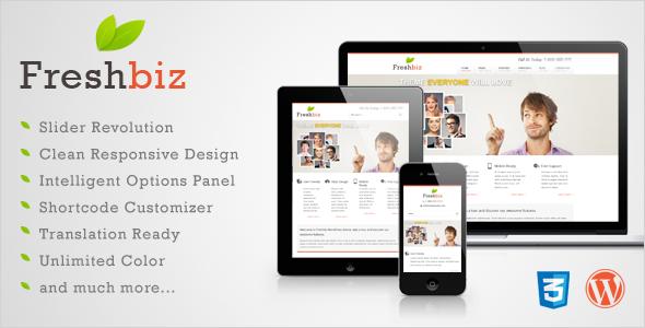 قالب Freshbiz - قالب سایت کسب و کار