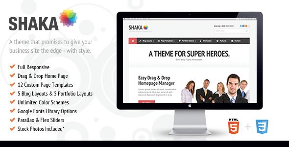 قالب Shaka - قالب سایت کسب و کار برای وردپرس
