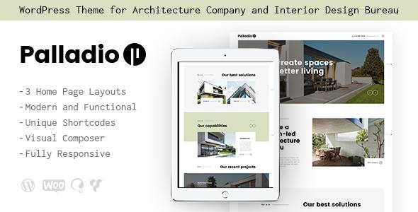 قالب Palladio - پوسته وردپرس دکوراسیون داخلی و معماری