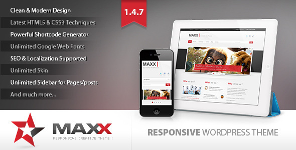 قالب Maxx - قالب وردپرس خلاقانه