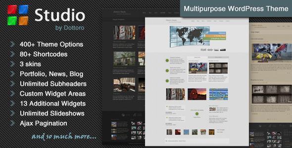 قالب Dottoro Studio - قالب وردپرس چند منظوره