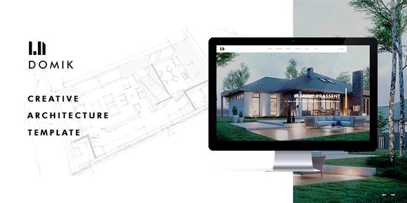 قالب Domik - قالب وردپرس سایت معماری
