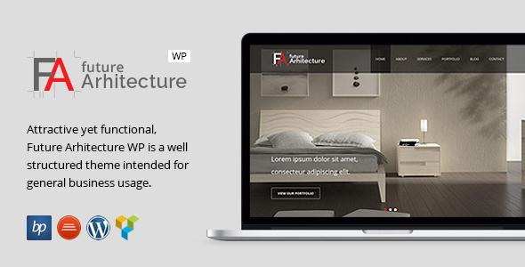 قالب معماری آینده | Future Architecture - قالب وردپرس ریسپانسیو