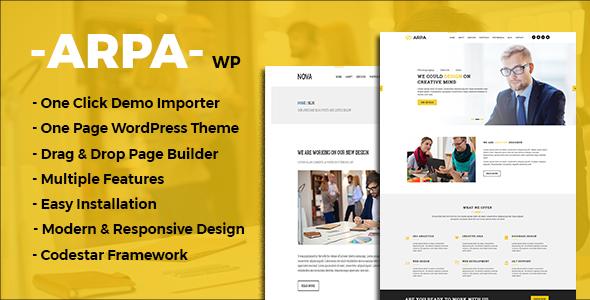 قالب Arpa - قالب تک صفحه ای وردپرس کسب و کار