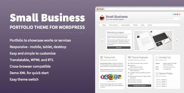 قالب Small Business - قالب نمونه کار برای وردپرس