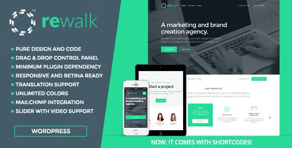 قالب ReWalk - قالب وردپرس کسب و کار