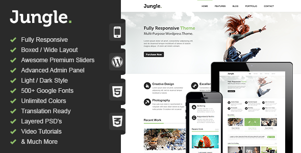 قالب Jungle - قالب وردپرس چند منظوره ریسپانسیو