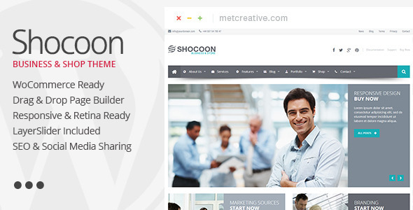 قالب Shocoon - قالب وردپرس فروشگاهی