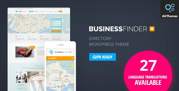 قالب Business Finder - قلب وردپرس دایرکتوری
