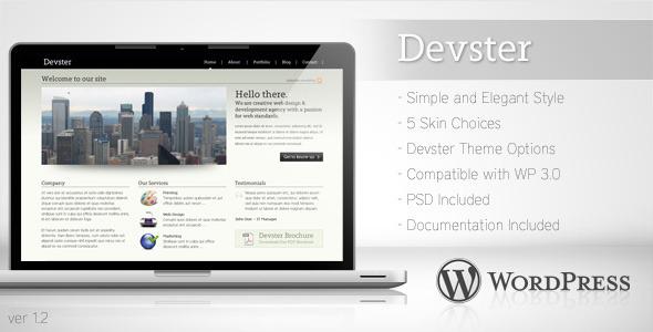 قالب Devster - قالب وردپرس کسب و کار ساده