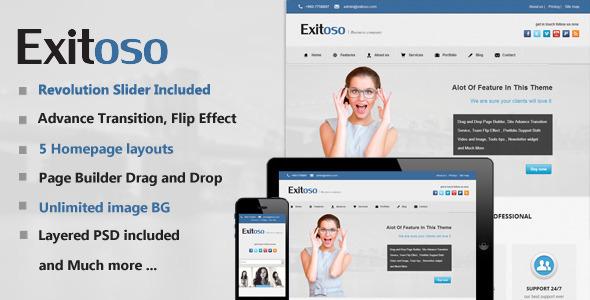 قالب Exitoso - قالب وردپرس چند منظوره