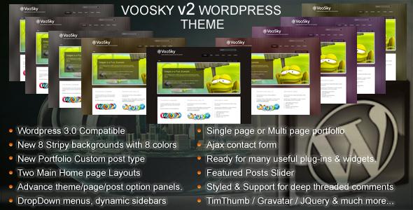 قالب VooSky - قالب وردپرس کسب و کار و نمونه کار 8 در 1