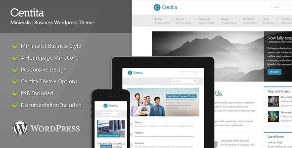قالب Centita - قالب وردپرس کسب و کار