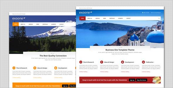 Exoone - قالب وردپرس کسب و کار شرکتی