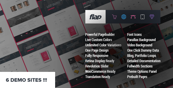 قالب FLAP - قالب وردپرس کسب و کار