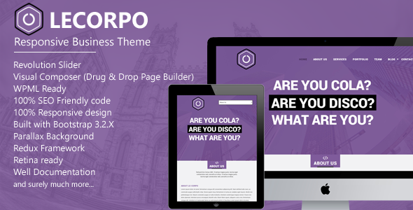 Lecorpo - قالب وردپرس کسب و کار