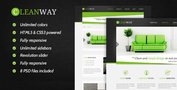 قالب Cleanway - قالب چند منظوره ریسپانسیو