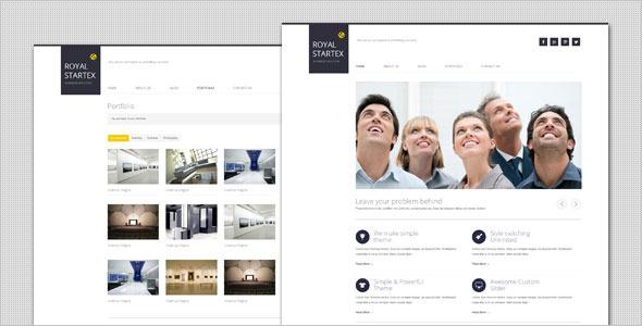 قالب RoyalStartex - قالب وردپرس کسب و کار