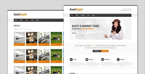 قالب GoodSimple - قالب وردپرس کسب و کار