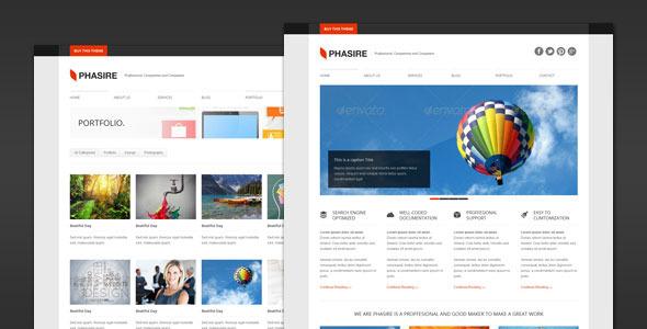 Phasire - قالب وردپرس کسب و کار و نمونه کار