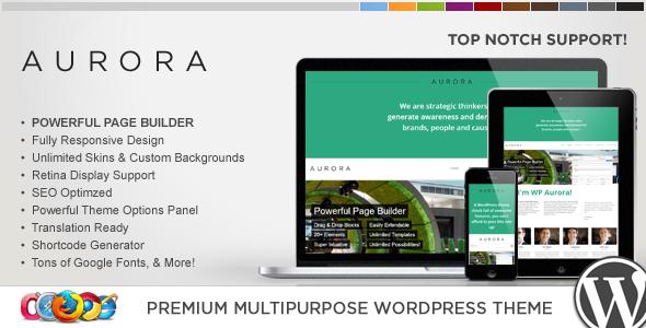 قالب WP Aurora - قالب وردپرس چند منظوره ریسپانسیو