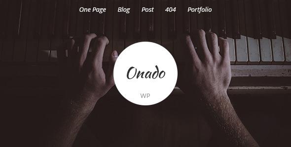 قالب Onado - قالب وردپرس تک صفحه ای