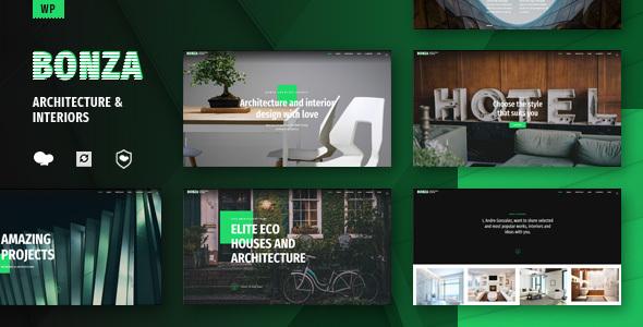 قالب Bonza - قالب وردپرس معماری و دکوراسیون داخلی