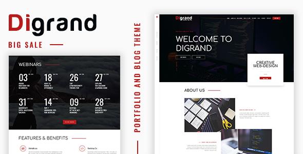 قالب Digrand - قالب نمونه کار و وبلاگ