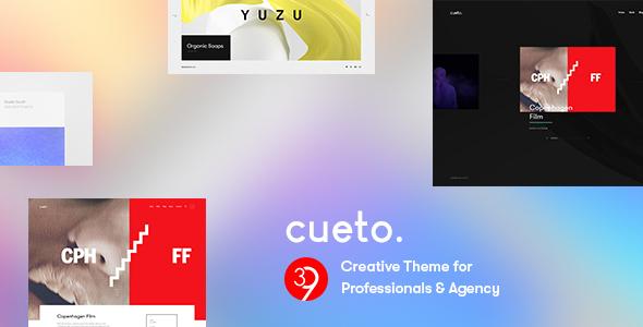 قالب Cueto - قالب وردپرس نمونه کار خلاقانه